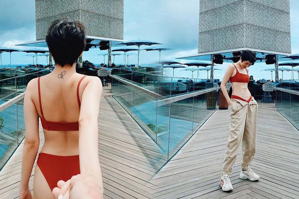 Bảo Anh bị dân mạng ví giống cây giò lụa khi mặc bikini