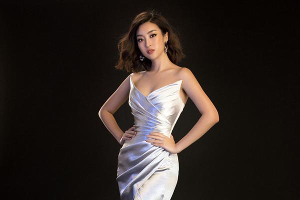 Hoa hậu Mỹ Linh khoe đường cong gợi cảm với đầm dạ hội