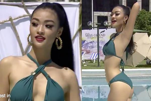Kiều Loan nóng bỏng hết cỡ với bikini tại HH Hoà bình 2019