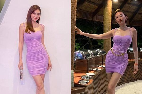 Đụng hàng váy tím bó sát, Lan Ngọc - Tóc Tiên đẹp 'bất phân thắng bại'