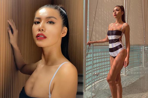 Minh Tú diện bikini đọ vẻ rạng rỡ hơn cả nắng hè