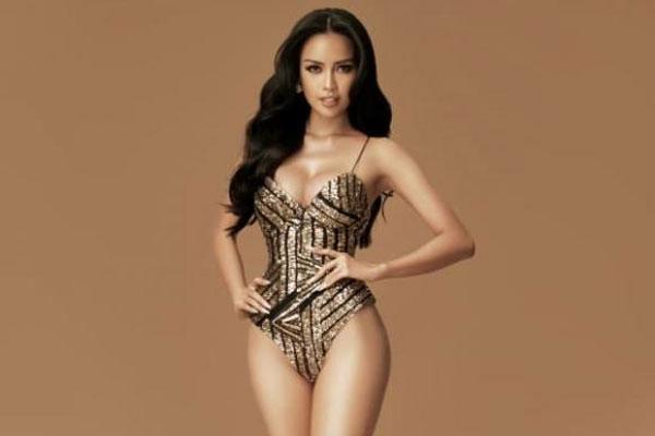 Ngọc Châu bị lép vế về hình thể trong phần thi áo tắm và dạ hội tại BK Miss Supranational