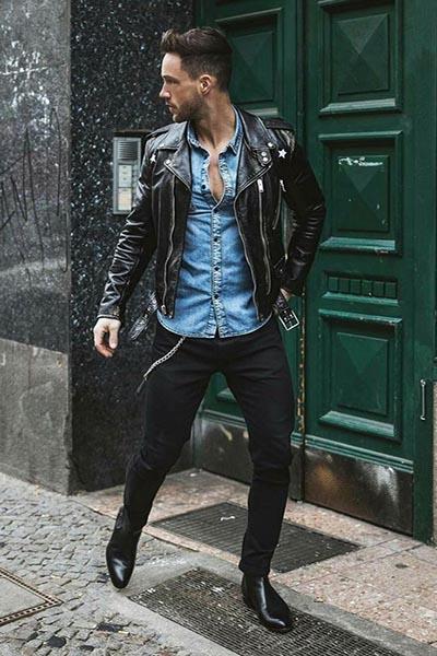 Cách phối đồ với áo khoác da Leather Biker Jackets