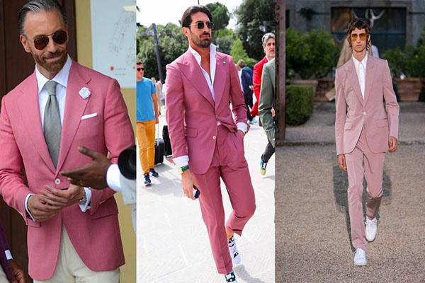 Bí quyết mặc màu hồng cho các quý ông